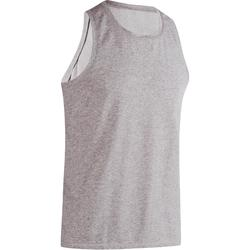 500 Regular-Fit Gym Stretching Tank Top - Heathered Grey