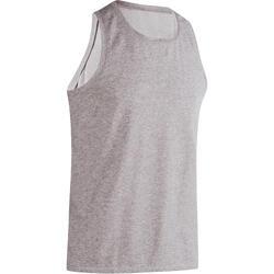 基础塑形/普拉提棉质透气舒适男士运动背心无袖T恤 DOMYOS