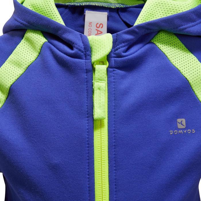 a101d41847ab Baby Clothing 560 Baby Hooded Gym Jacket - Blue Domyos - Decathlon