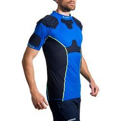 成人橄榄球肩甲R500-蓝色