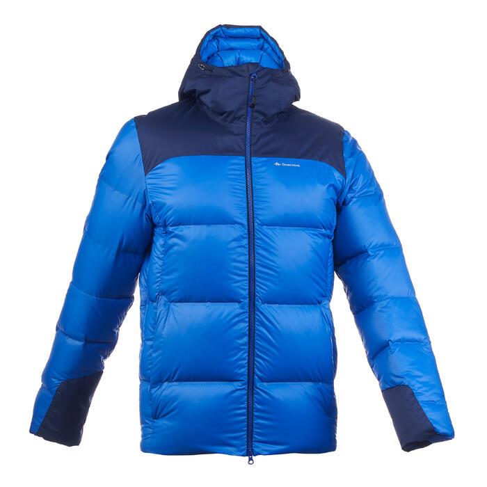 TREK 900 男式厚款连帽保暖羽绒夹克 - 蓝色