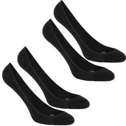 步行运动透气隐形防滑薄款硅胶男女袜子船袜 NEWFEEL Ballerina Pack 2