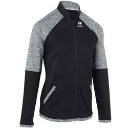 女士网球保暖夹克500-黑色