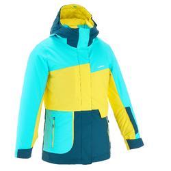 滑雪运动防水/保暖女童夹克 WED'ZE FREE 500