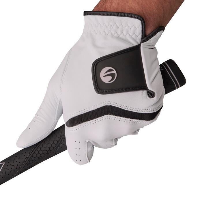 男式进阶高尔夫手套500系列 (右手球员)-白色