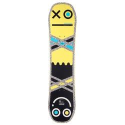 All mountain junior freestyle snowboard, Endzone 105 cm, yellow, black, blue