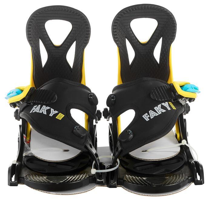 青少年单板固定器 Faky 100 - Black, Yellow and Blue