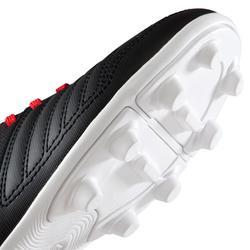 成人足球鞋 Agility 100 FG 干燥的足球场- 黑色/白色