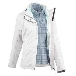 户外运动防水透气保暖女式三合一冲锋外套 QUECHUA JKT Arpenaz300 3-in-1 Rain Women