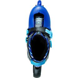 儿童直排轮溜冰鞋鞋- Blue/Black