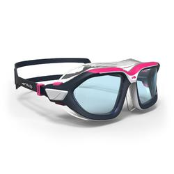 游泳面罩500 ACTIVE , ASIA S White Pink, Clear Lenses