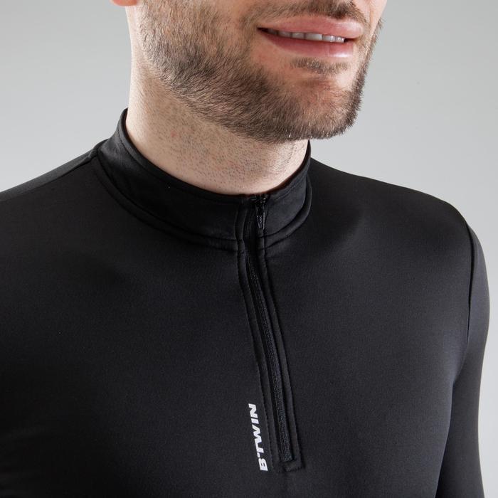 男式公路骑行长袖运动衫 - 黑色