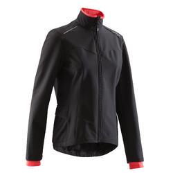 100 女式骑行运动夹克衫- 黑色