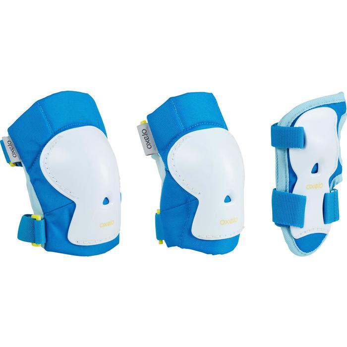 儿童直排轮,滑板,滑板车护具三件套Play - Blue