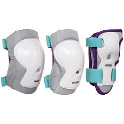 儿童直排轮,滑板,滑板车护具三件套Play - Turquoise