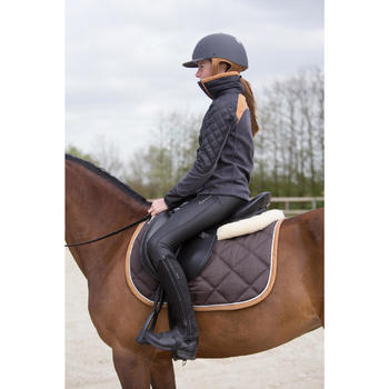 500童装骑马摇粒绒外套- 灰色/骆色