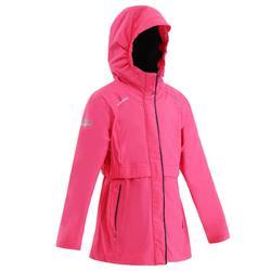 女孩航海防水保暖夹克100- Pink