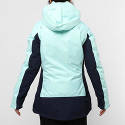 Warm jacket 100 W mint/navy