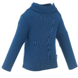 婴儿滑雪/雪橇打底内衣Top Simple Warm - Navy Blue