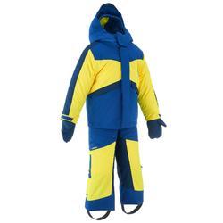 儿童滑雪服D-SKI PNF 500 - BLUE AND YELLOW