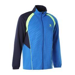 男式球拍类运动快干夹克500-蓝色