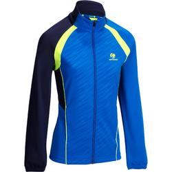 女式球拍类运动快干夹克500-蓝色