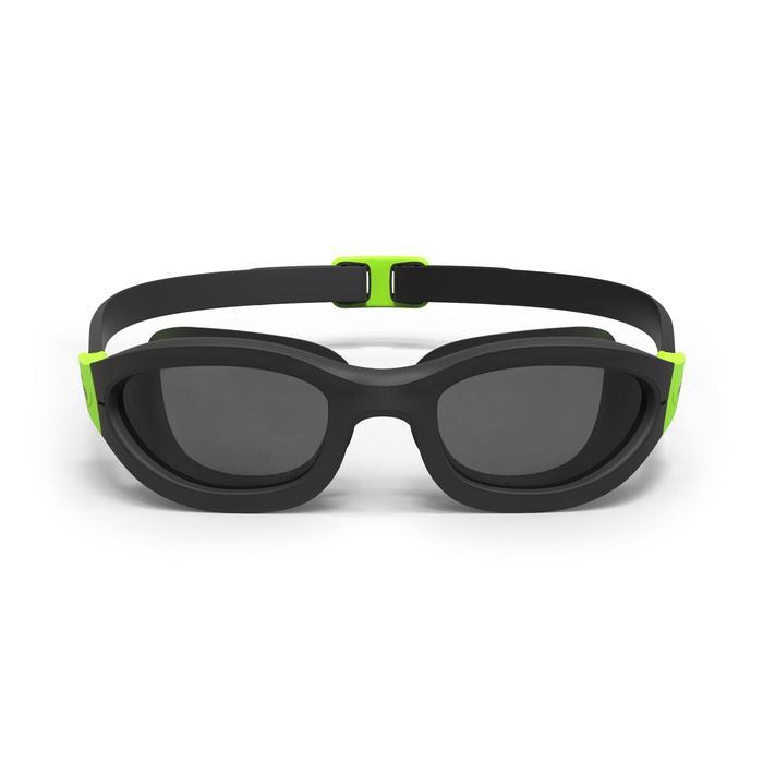 游泳眼镜100 EASYDOW , L号, Black Green
