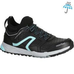 NW 580 Flex-H 女士北欧防水健走鞋——黑色/蓝色
