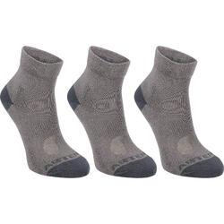 球拍类运动三双装儿童运动袜 ARTENGO RS160
