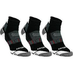 球拍类运动三双装成人中帮袜 ARTENGO RS900