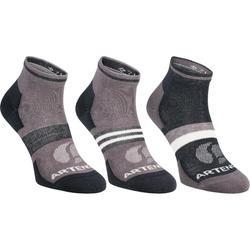 成人中筒运动袜三双装RS 160 - 灰色 多色