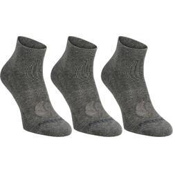 成人中帮运动袜RS160 三双装- 灰