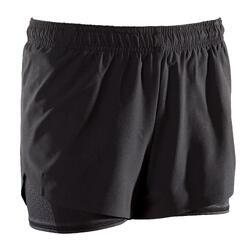 女式综合循环训练短裤 500系列- 黑色