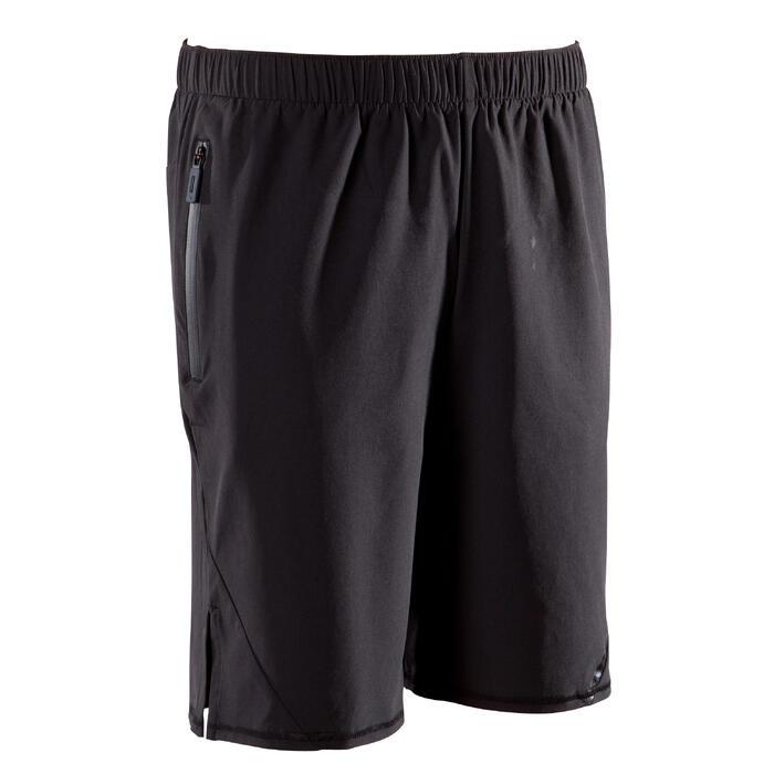 男式综合循环训练短裤 500系列 黑色