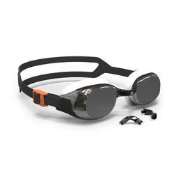 游泳眼镜500 B-FIT - Black Silver, Mirror Lenses