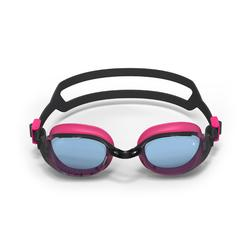 游泳眼镜500 B-FIT - Black Pink, Clear Lenses