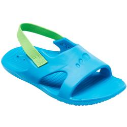 婴儿泳池凉鞋 Blue with Green Elastic