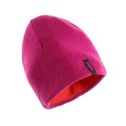 成人滑雪双面保暖帽PINK RED.