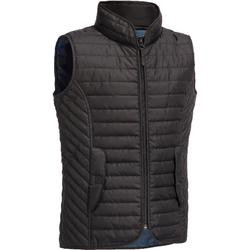 GL100 Kids' Horse Riding Sleeveless Gilet - Black