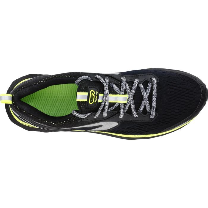 KIPRUN LONG男士防泼水跑鞋-黑色/黄色