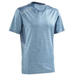 男式快干跑步T恤- 天蓝色
