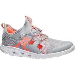 PW 500 Fresh 青少年健走鞋-灰色/珊瑚色