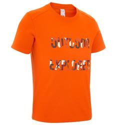 户外登山运动防紫外线透气快干儿童儿童户外服装短袖 QUECHUA 儿童户外防紫外线短袖T恤多色多款