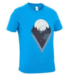 男童青少年山地徒步T恤 MH100 - 蓝色(7 至 15 岁)