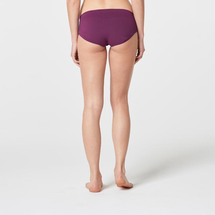 女式跑步透气三角裤- 紫红色