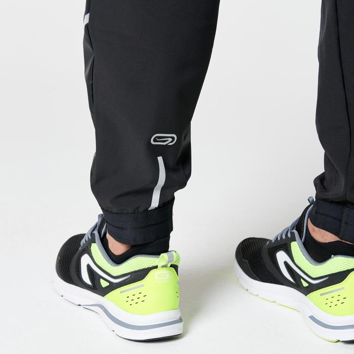 男式跑步排汗透气运动裤-黑色