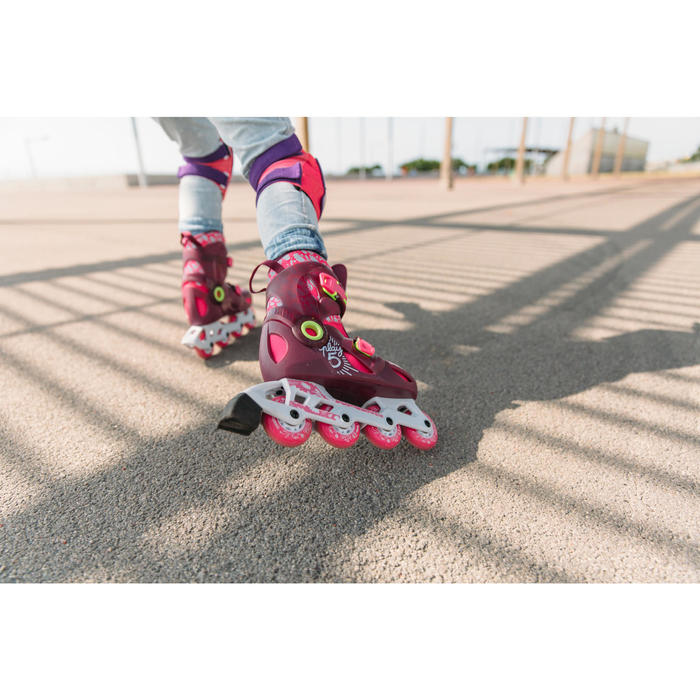 儿童直排轮和滑板保护器套组PLAY - Pink/Purple