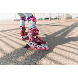 儿童直排轮溜冰鞋Play 5 Tonic - Pink