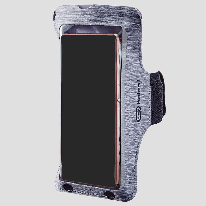 跑步运动智能手机大号臂袋-灰色