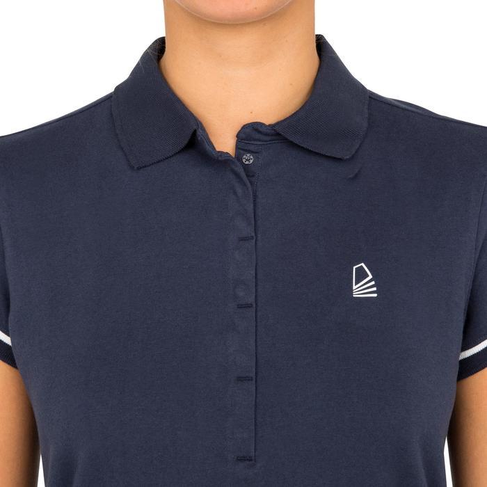 女式航海短袖POLO衫100 Adventure Blue